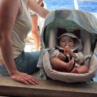 La Guadeloupe en bateau avec un bébé