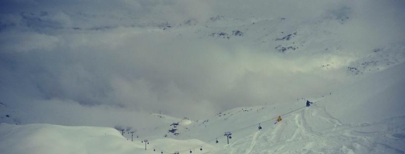 ski les menuires vue de la masse