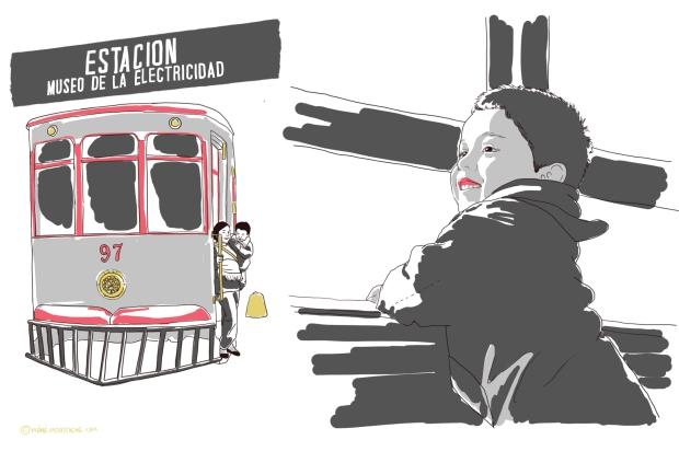 pérou avec des enfants, petit train quartier barranco, lima