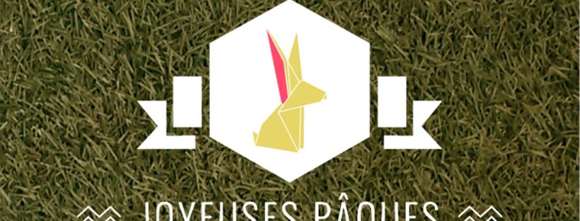 joyeuses paques geometrique lapin
