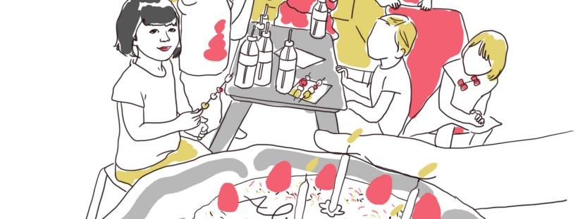 illustration dessin anniversaire 4 ans
