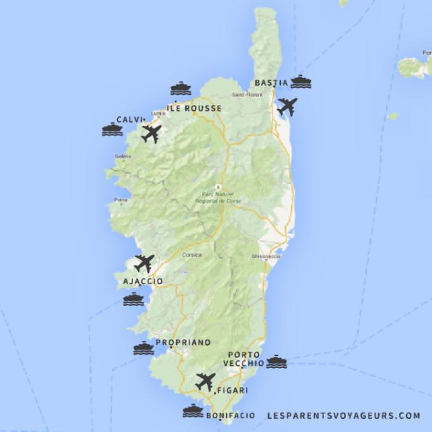 cartencorse transports ferry aeroports