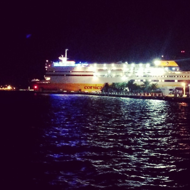 corsica ferries by night
