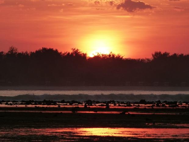 coucher de soleil Lombok, Indonésie