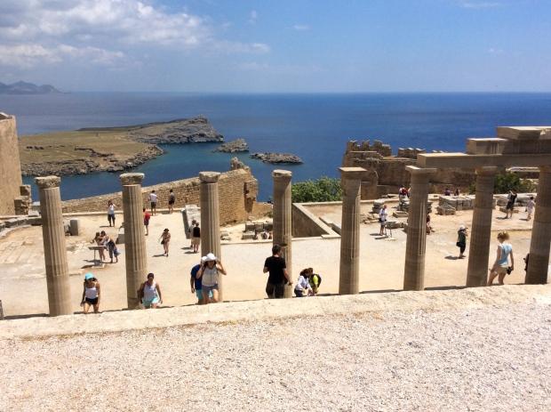 acropole lindos, rhodes, grece