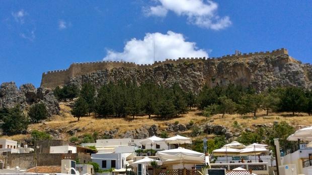 citadelle de lindos, rhodes, grece