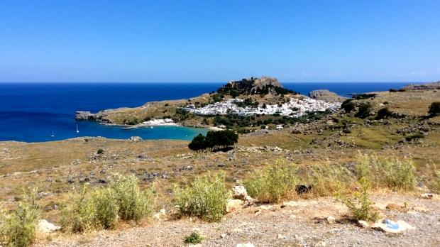lindos, rhodes, grece