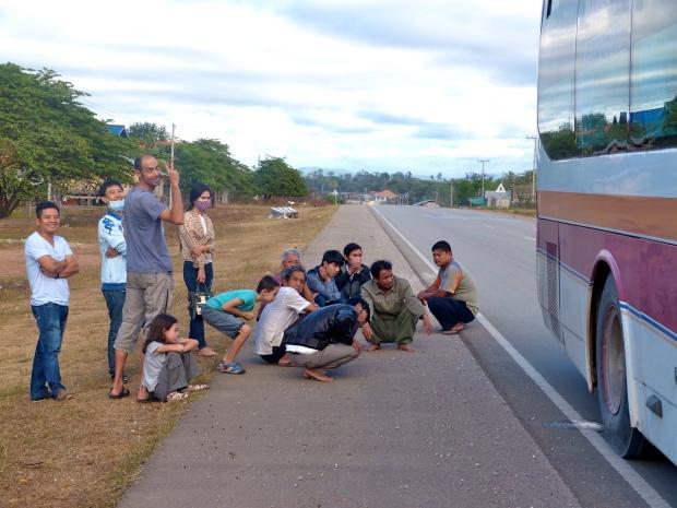 Panne de bus au Laos
