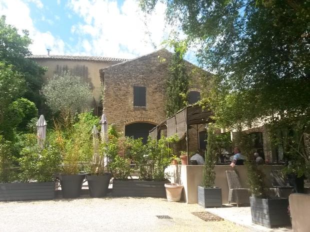 terrasse provence Restaurant Côté Sud, Uchaux, Vaucluse