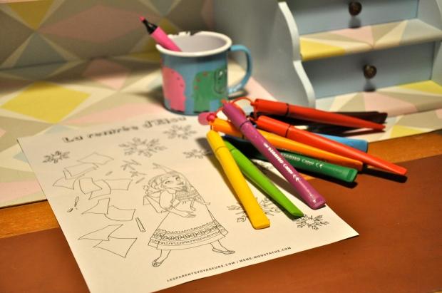 coloriage reine des neiges gratuit à télécharger et imprimer