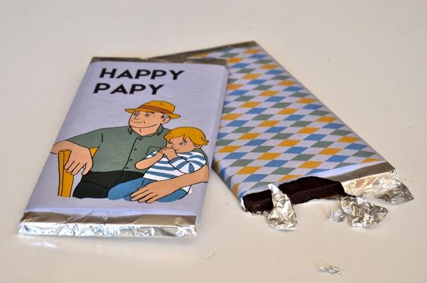 printable tablettes chocolat fête des grands-pères mordue