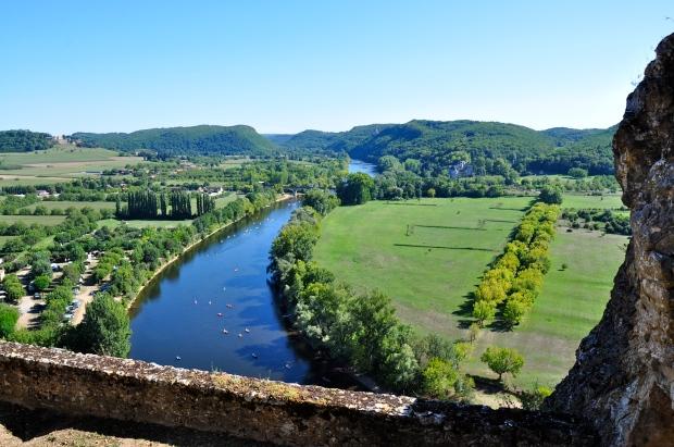 vue dordogne et castelnaud depuis chateau beynac
