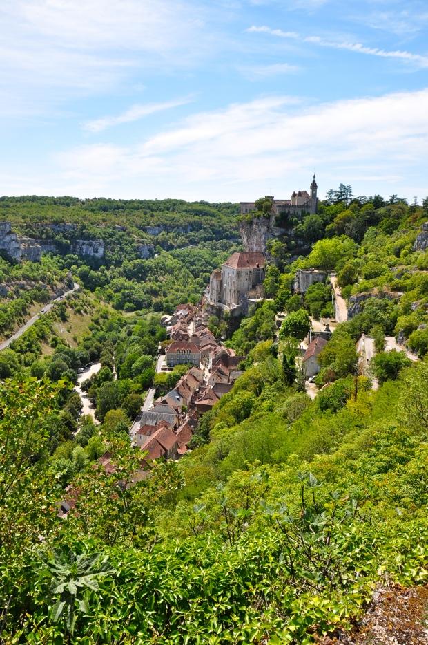 vue sur rocamadour et son chateau