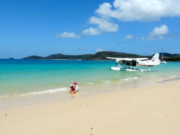 avion, Survol de la barrière de corail, Australie