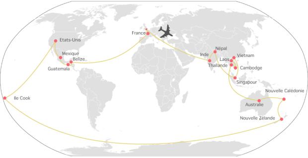 itineraire tour du monde en famille caster