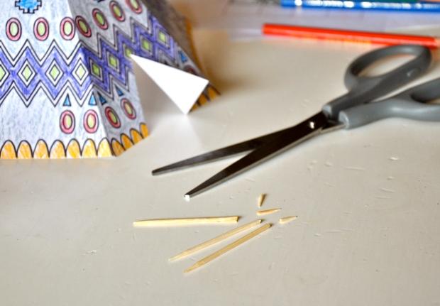 cure dents pour faire le printable tipi