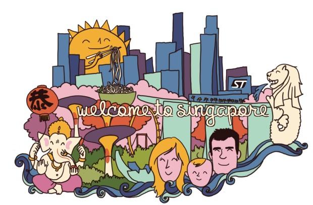 invitation singapour expatriation couleurs