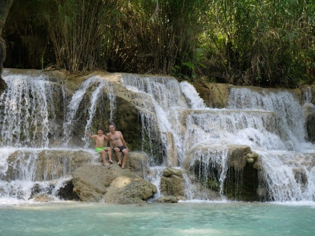 Kuang Si cascades laos