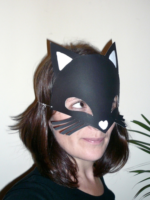 DIY printable masque chat halloween