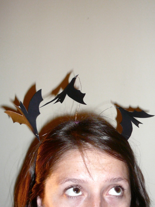 DIY printable serre tête chauve souris halloween