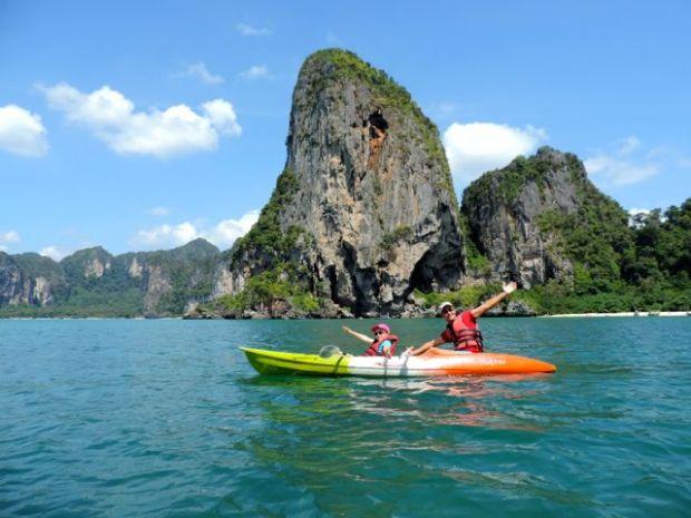 En canoë, Thaïlande