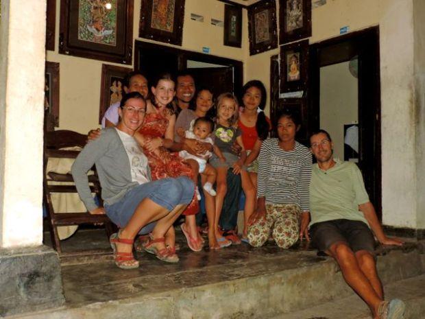 famille, Village de Keliki, île de Bali, indonésie