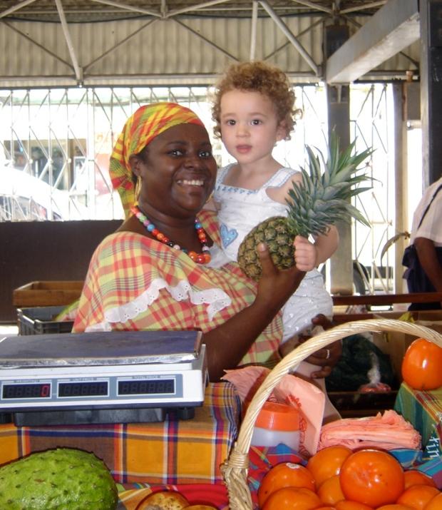 marché créole mama et fillette fort de france martinique