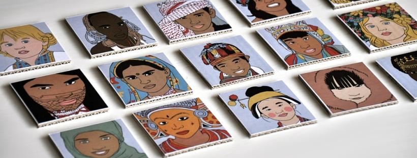 joli jeu de memory à imprimer soi même printable illustré enfants du monde