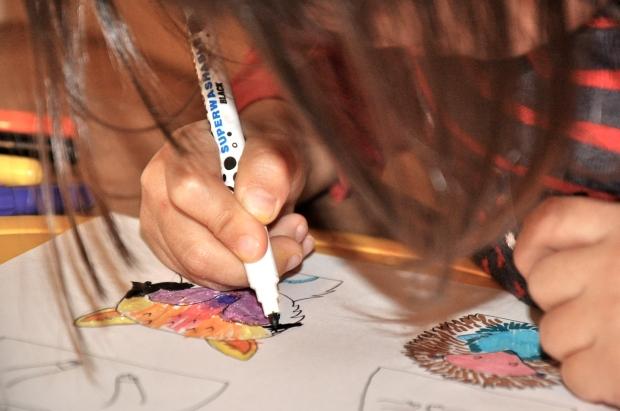 DIY calendrier de l'avent coloriage loup