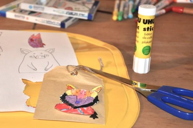 DIY calendrier de l'avent animaux foret scandinave pour les enfants