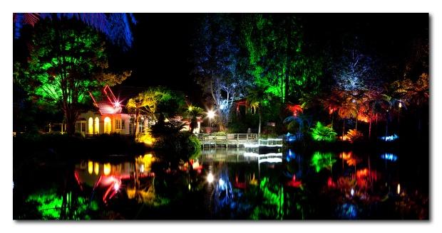 Festival des lumières - parc Pukekura - New Plymouth, NZ