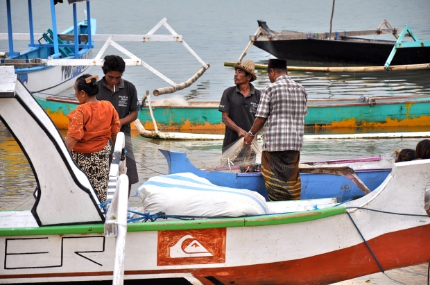pecheurs gerupuk indonesie