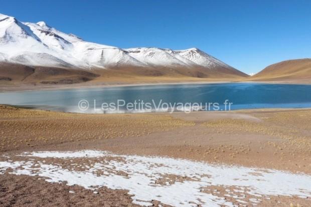 Sur la route de San Pedro de Atacama, Chili, lac, montagne