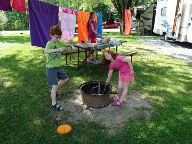 Camping car Lancaster avec des enfants