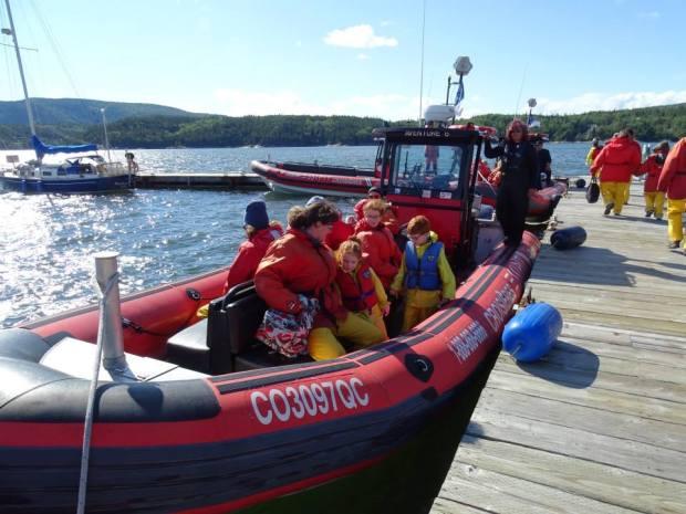 Grandes-Bergeronnes, Quebec, bateau ballade baleine