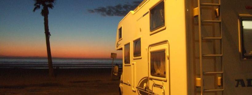 La Jolla, San Diego, coucher de soleil en camping car