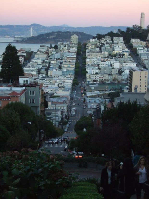 San Francisco au soleil couchant