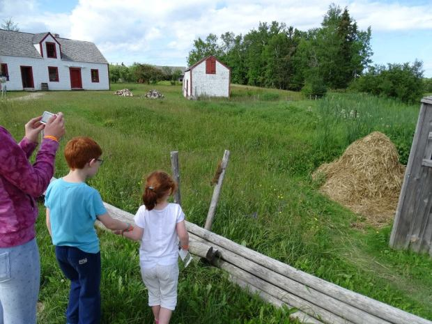 Village acadien en famille