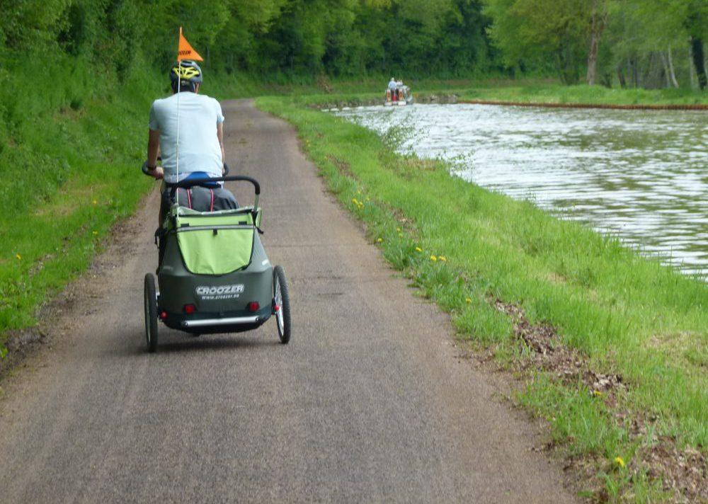 remorque vélo croozer kid for 2 roule de dos