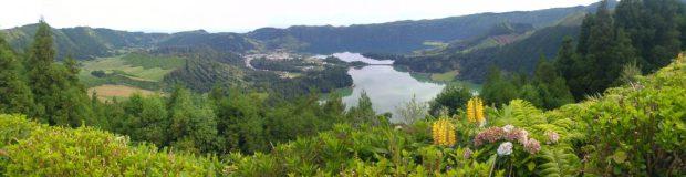 lagoes das sete cidades ile sao miguel acores vue panoramique