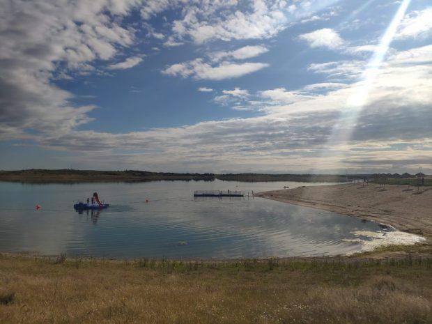 plage fluviale Mourao - voyage a velo alentejo Portugal avec des enfants lac alqueva