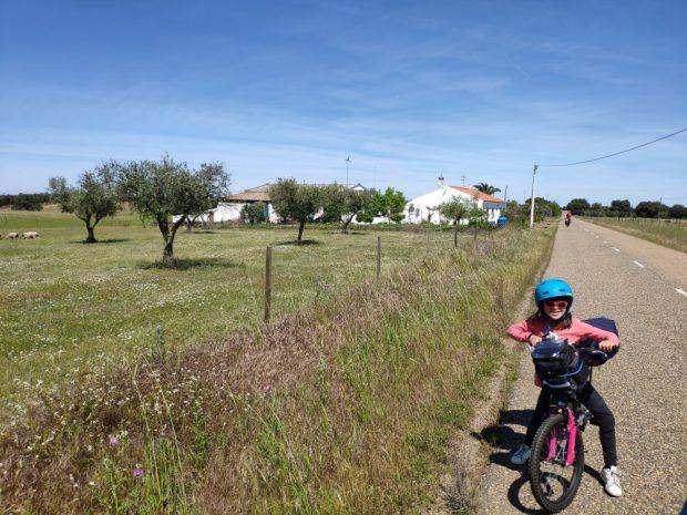 Alentejo / voyage a velo avec des enfants Portugal nature