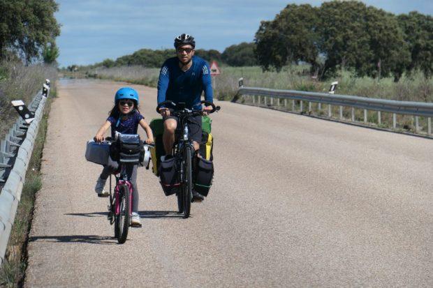 voyage a velo alentejo Portugal nature avec des enfants lac alqueva