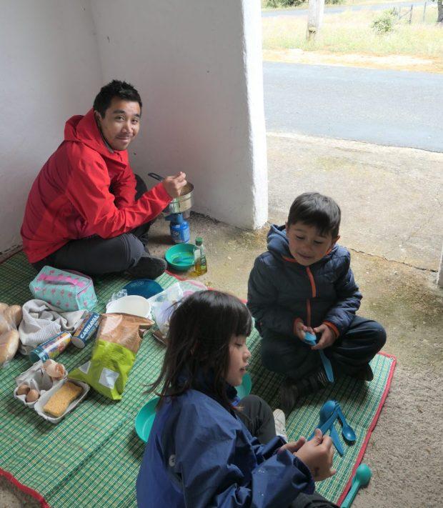 camping alentejo en velo avec des enfants